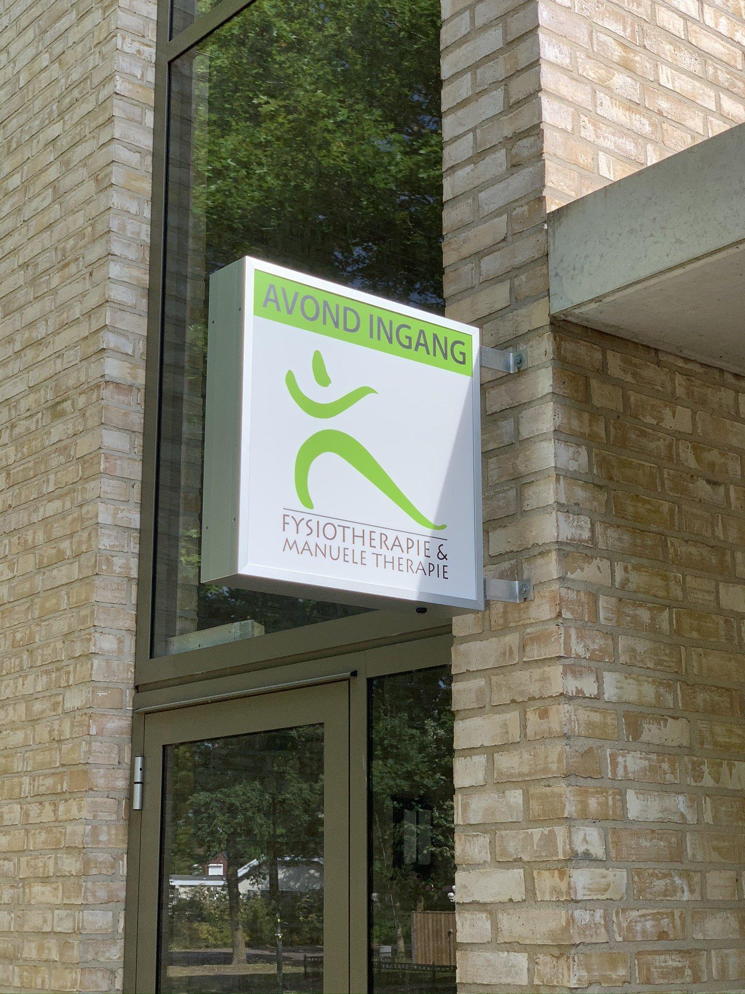 2 Lichtbak reclame Fysiotherapie Reusel